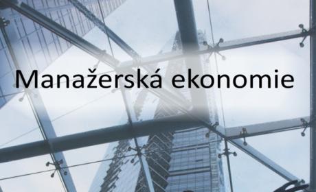 Manažerská ekonomie – nová publikace členů katedry